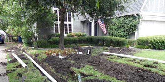Landscape Drainage Company in Dallas TX